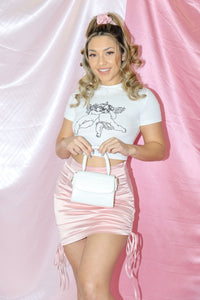 Cat Scrunchie Skirt (Baby Pink)