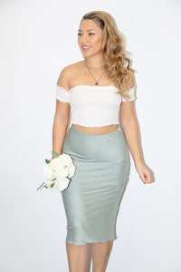 Lani Midi Skirt (Sage Green)