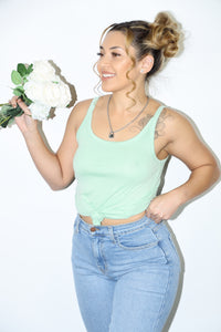Betty Tank Top (Sage Green)