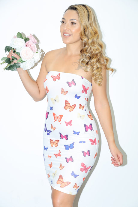 Mariposa Butterfly Dress (White)