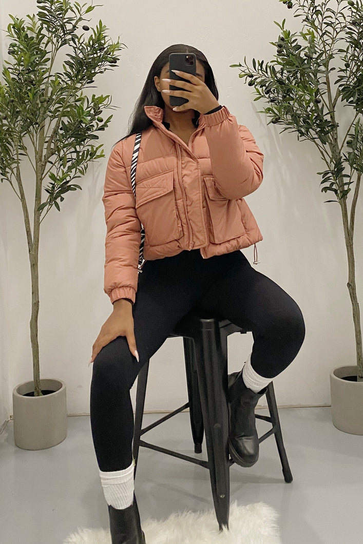 Lizzy Puffer Jacket (Dusty Rose)
