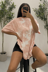 Dreamy Distressed Oversized Tee (Dusty Pink)