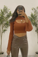 Load image into Gallery viewer, Leo Crop Top (Auburn Brown)
