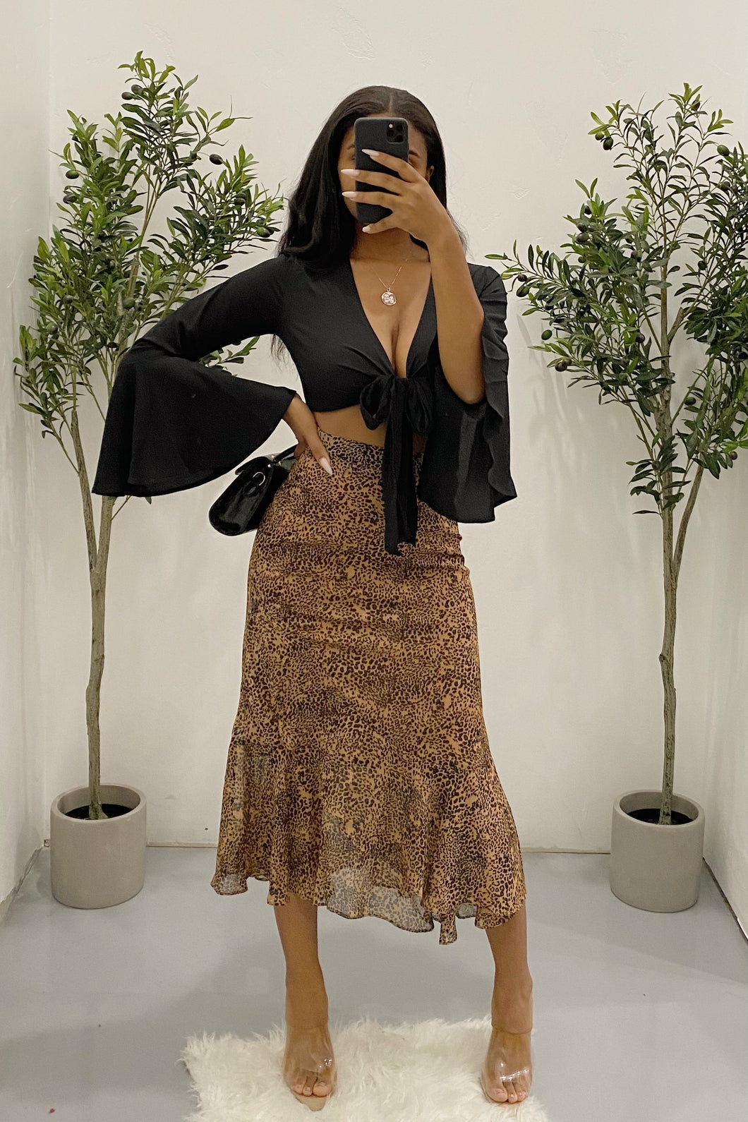 Dorothy Skirt (Brown Leopard)