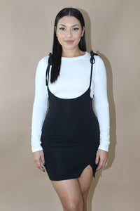 Adiliene Suspender Dress (Black)