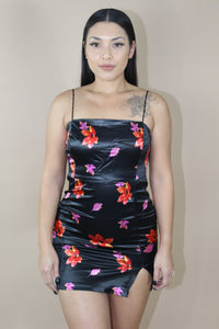 Kaiana Floral Dress (Black)