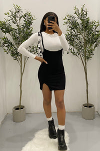 Charlie Suspender Dress (Black)