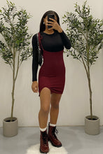 Load image into Gallery viewer, Charlie Suspender Dress (Burgundy)