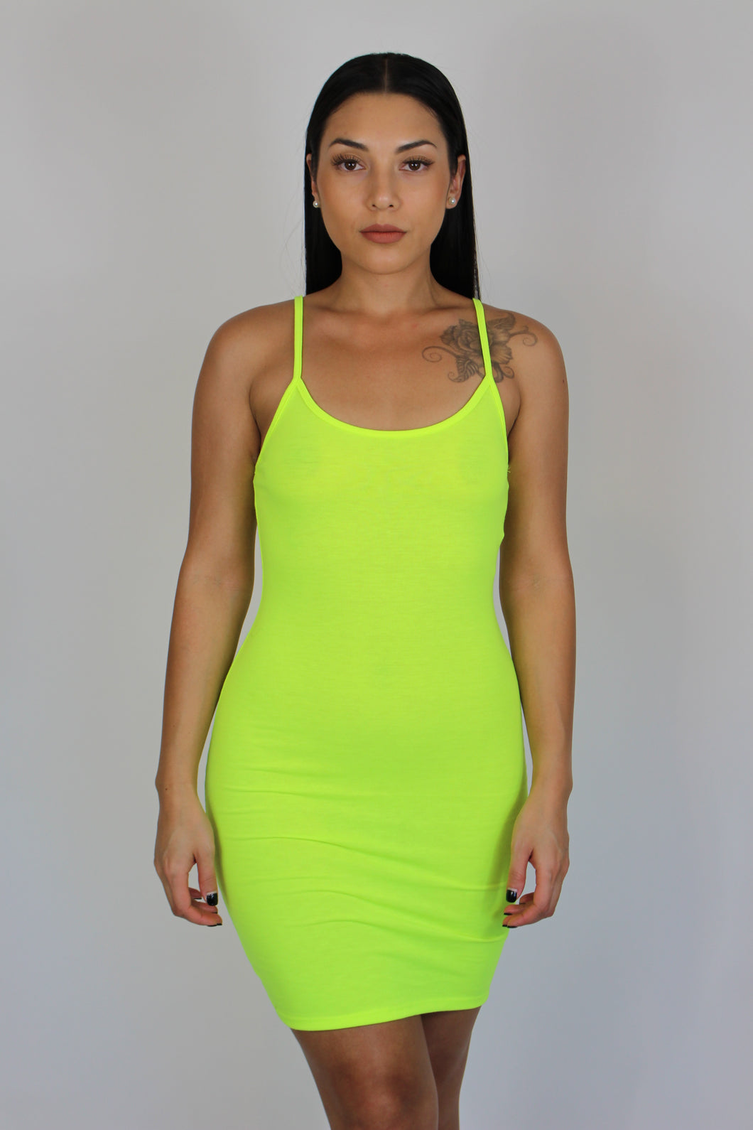 Catalina Cami Dress (Neon Lime)