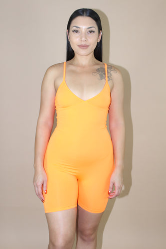 Roxanne Jumpsuit (Neon Orange)