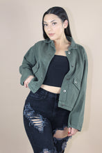 Load image into Gallery viewer, Rylie Denim Jacket (Olive)