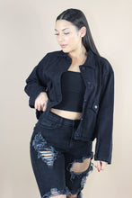 Load image into Gallery viewer, Rylie Denim Jacket (Black)