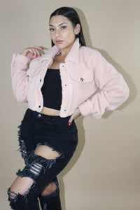 Teddy Jacket (Baby Pink)