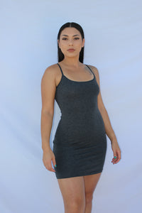 Callie Dress (Charcoal Grey)