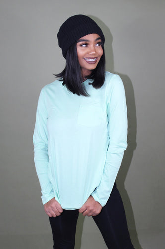 Sage Super Soft Long Sleeve Top (Mint)