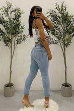 Load image into Gallery viewer, Tanner High Waisted Skinny Jeans (Light Denim)