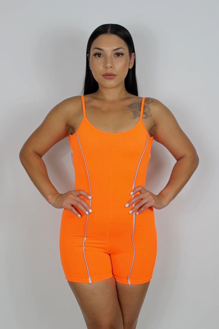 Tessa Reflective Jumpsuit (Neon Orange)