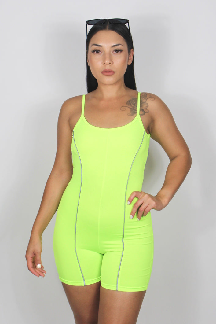Tessa Reflective Jumpsuit (Neon Yellow)