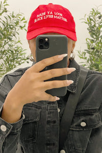 BLM Dad Hat (Red)
