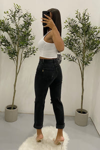Brianne Mom Jeans (Black)