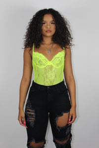 Halsey Bodysuit (Neon Yellow)