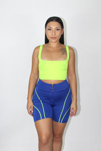 Tammy Biker Shorts (Blue)