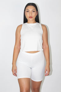 Capri Tank Top (White)