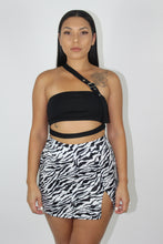 Load image into Gallery viewer, Katy Zebra Skirt (White)