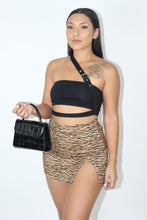 Load image into Gallery viewer, Katy Zebra Skirt (Brown)