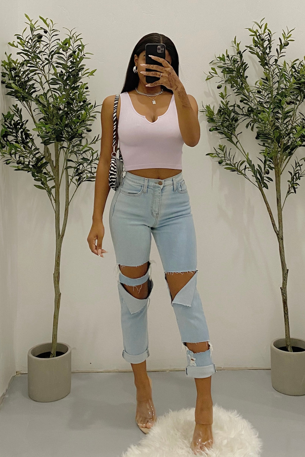 Jada Crop Top (Lavender)