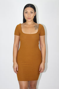 Marissa Dress (Caramel Brown)