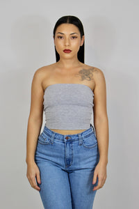 Cheryl Tube Top Plus Size (Grey)