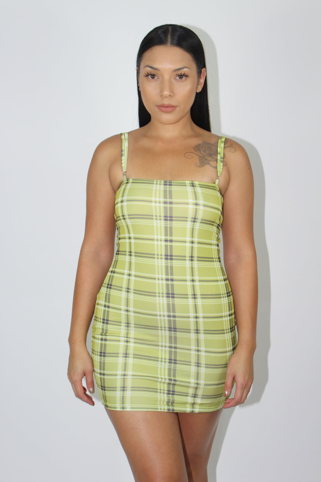 Claire Plaid Dress (Yellow)