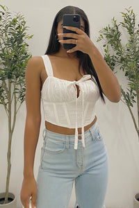 April Corset Top (White)