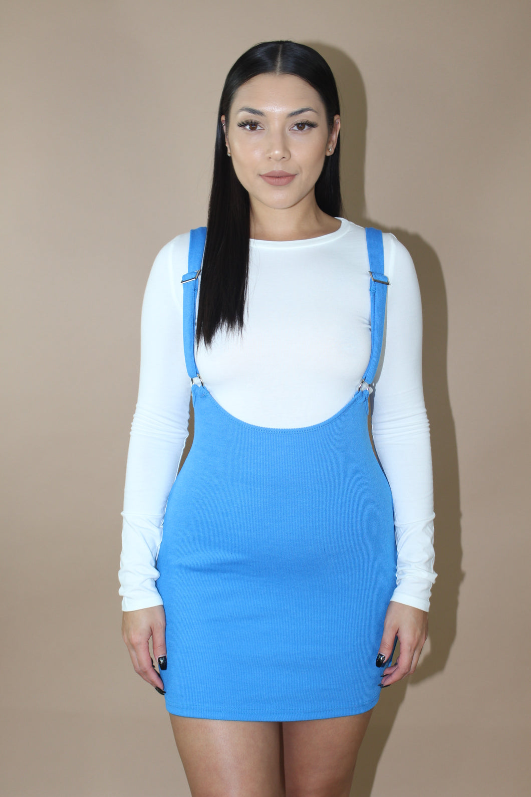 Stass Suspender Dress (Blue)