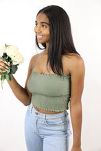 Load image into Gallery viewer, Tina Tube Top (Olive Green)