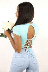 Dani Open Back Top (Mint)