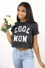 Load image into Gallery viewer, Cool Mom Crop Tee (Black)