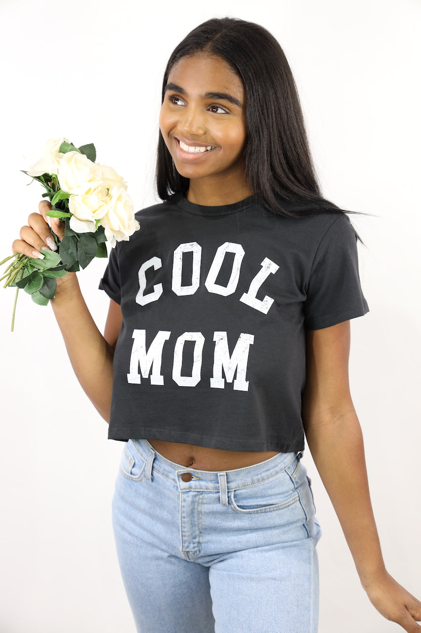 Cool Mom Crop Tee (Black)