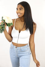 Load image into Gallery viewer, Myrah Crop Top (White)