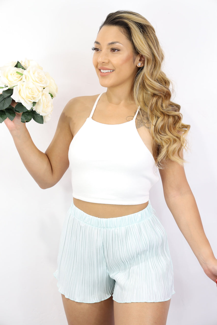 Florence Back Tie Top (White)