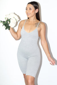 Polly Romper (Grey)