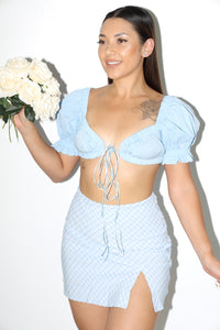 Elsa Crop Top (Baby Blue)