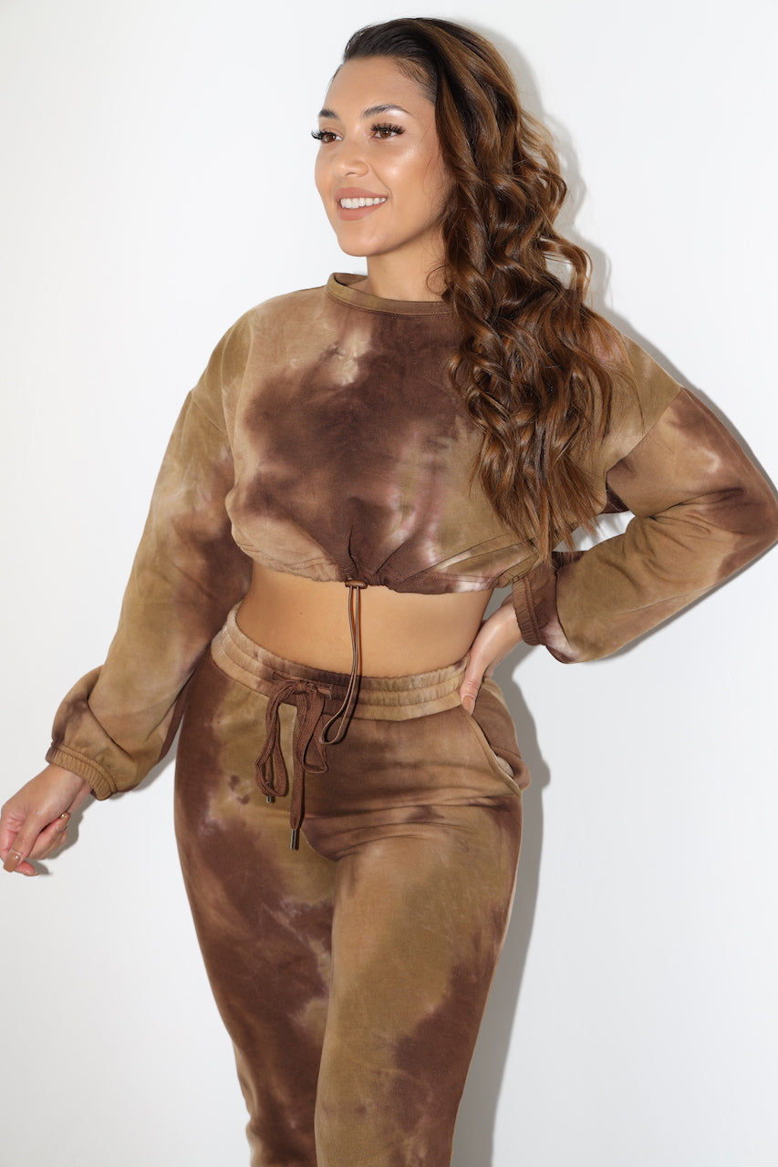 Lydia Tie Dye Sweater (Brown/Caramel)