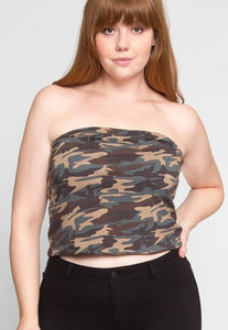 Cheryl Tube Top Plus Size (Camo)