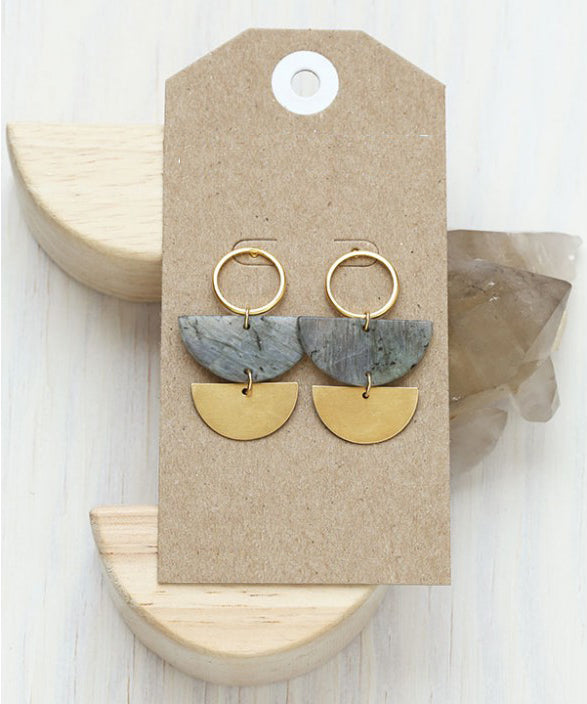 LUNAR STONE EARRINGS