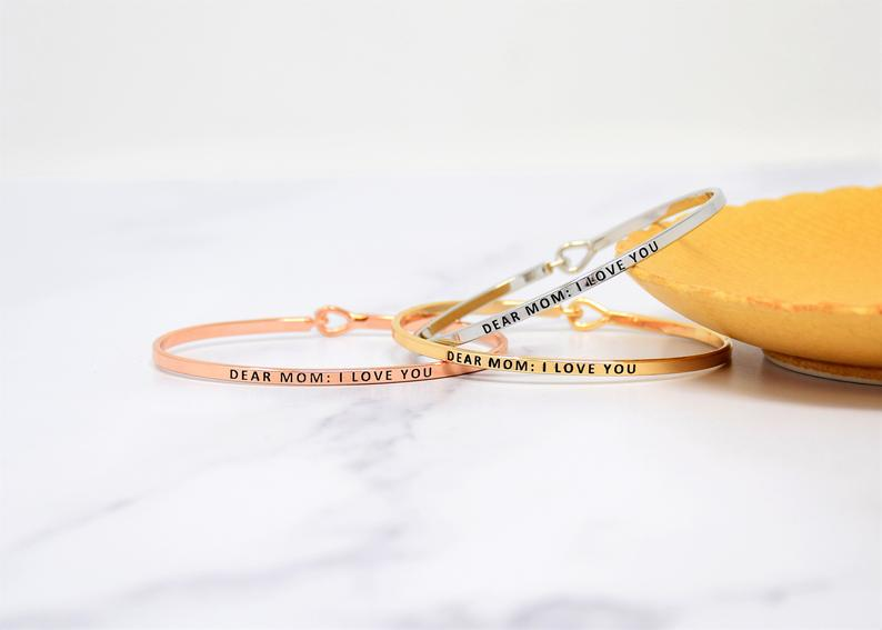 DEAR MOM BANGLE BRACELET