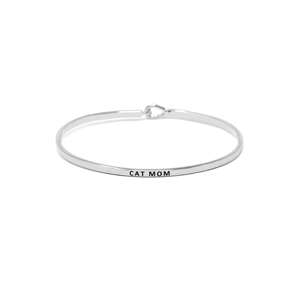 CAT MOM BANGLE BRACELET