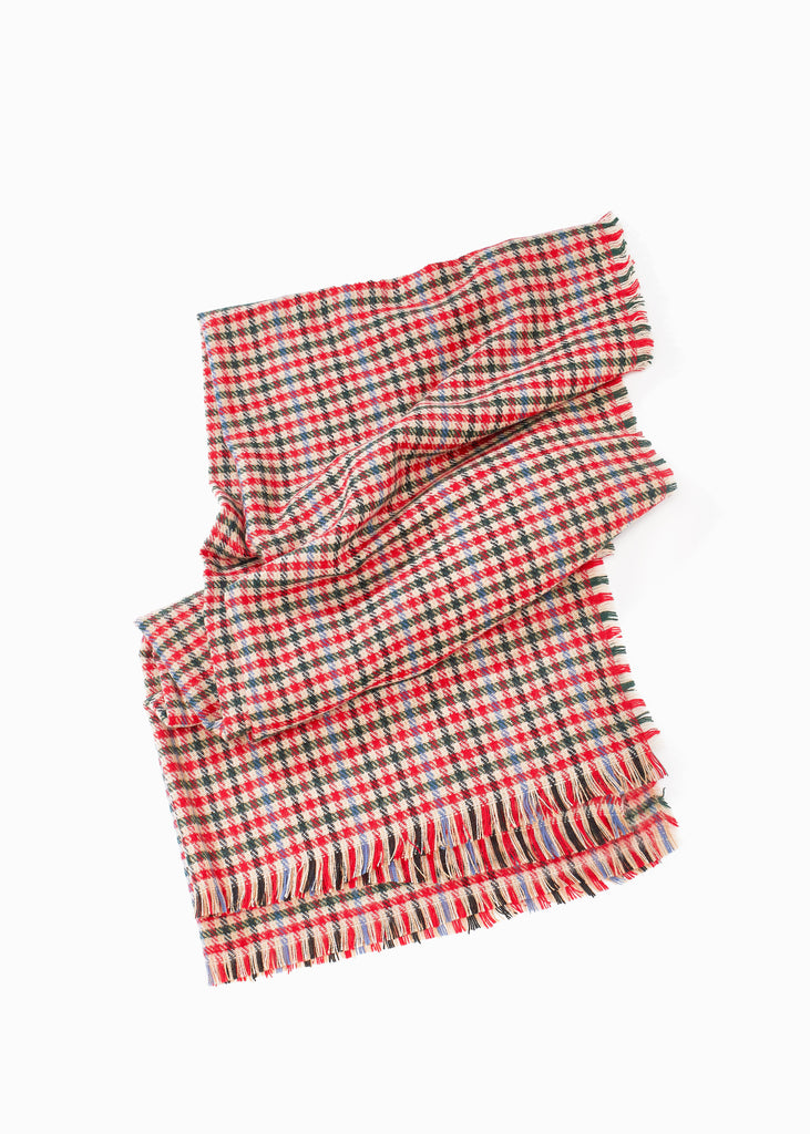 LOLLIPOP PLAID RED SCARF