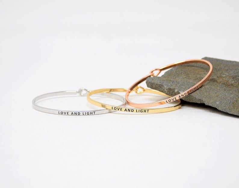 LOVE AND LIGHT BANGLE BRACELET